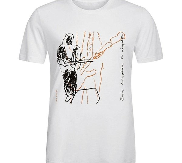 Eric Clapton 24 Nights Erkekler Ç Boyun Tee Gömlek Whitenew Moda Erkek Kısa Kollu Tişört T Gömlek