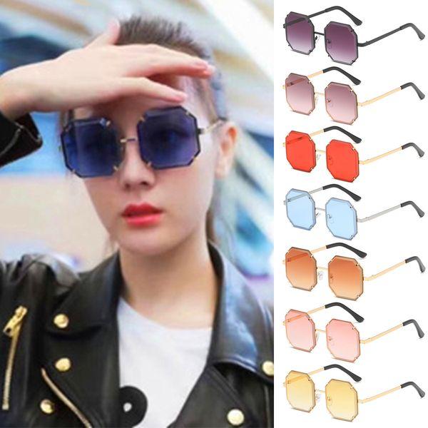 Fashion Vintage Femme Lunettes de soleil miroir lentille Lunettes Mode Lunettes de soleil 002#