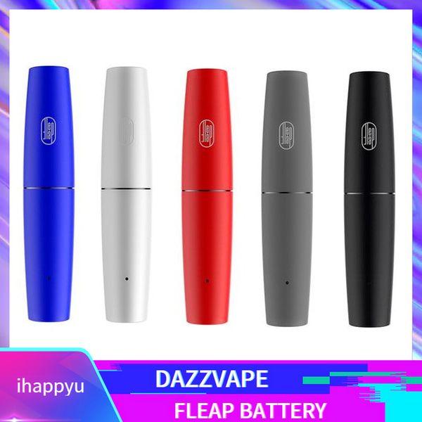 2019 Authentic Dazzvape Fleap Batterie Dual Magnetic Thread Doppelkartuschen Kompatibel 400mAh Auto Draw E Zigarette Vape Pen 100% Original