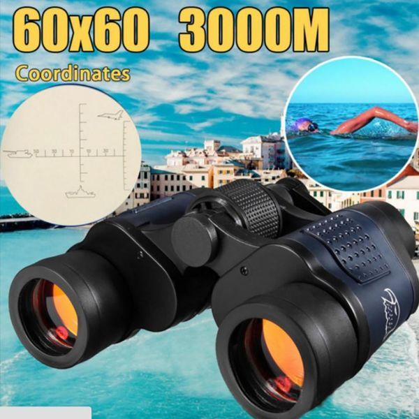 2019 Nuovo binocolo 60x60 con visione notturna Binocolo a pellicola verde ad alta definizione ad alta definizione Telescopio a pellicola rossa HD Vendita calda