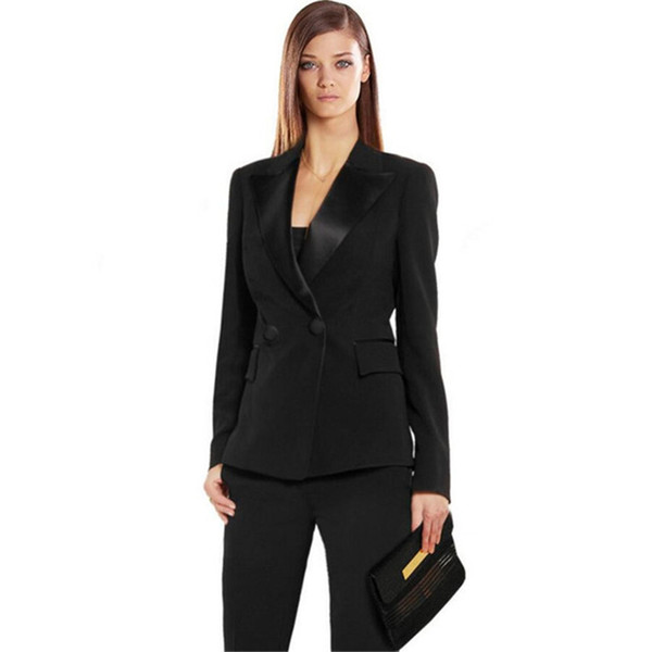 New Limited Women Evening Pant Suits Autumn Bussiness Formal Elegant Women Set Pants Office Suits Ladies Trouser