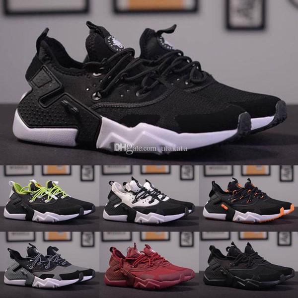 White Triple Black Huarache Drift PRM Shoes Men Women Huaraches Ultra Run Shoes Trainers Sneakers With Boxes Size US5.5--11 Hot Sale