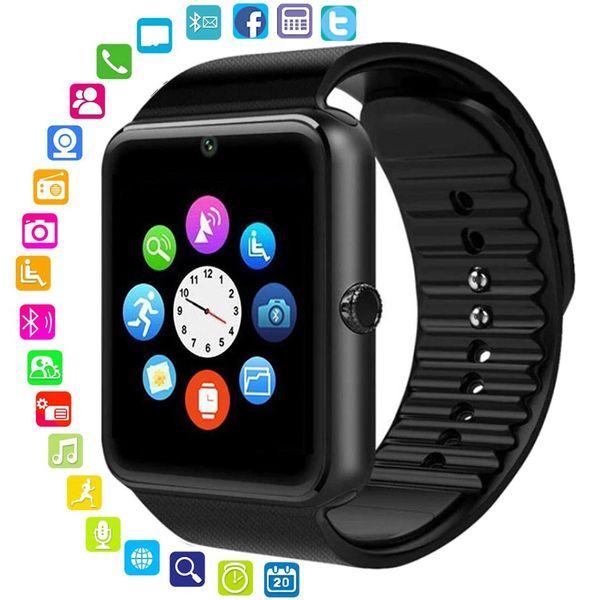 Bluetooth Smart Watch Männer Frauen Nachricht Erinnern Gesundheit Kamera Schrittzähler Touch Run Hochwertige Sportuhr Unterstützung TF Sim Karte Für Android IOS