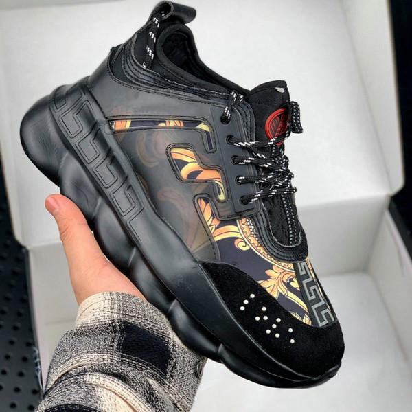2019 Homens Sapato Casual Moda Luxo Altura Crescente Chains Sneakers Sapato Conforto Mulher Grossa Plataforma Creepers Feminino Flats Casual Tênis