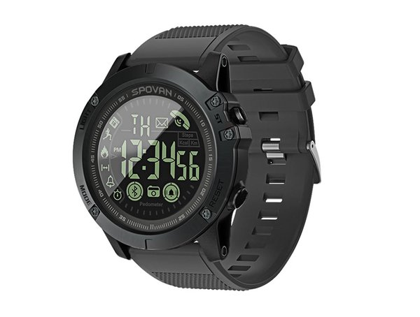 Sport Smart Watch Men professionale 5ATM impermeabile Bluetooth Call Promemoria sveglia digitale per iOS Android Phone
