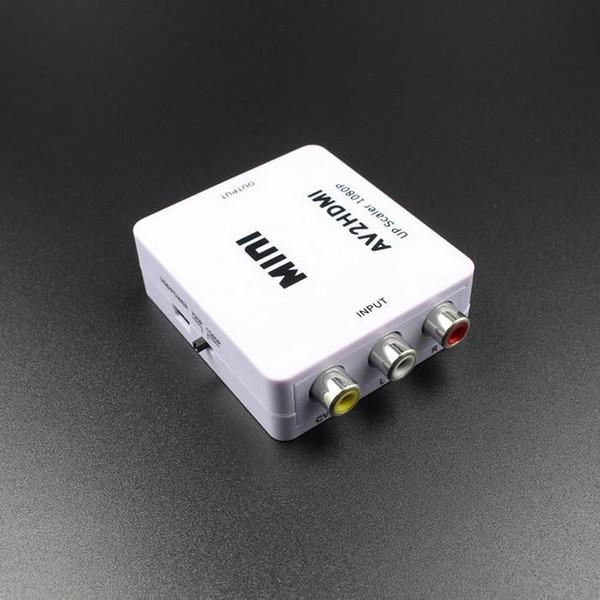 Date câble hdmi Mini AV vers HDMI Video Converter Box RCA AV CVBS vers HDMI Adaptateur pour HDTV TV