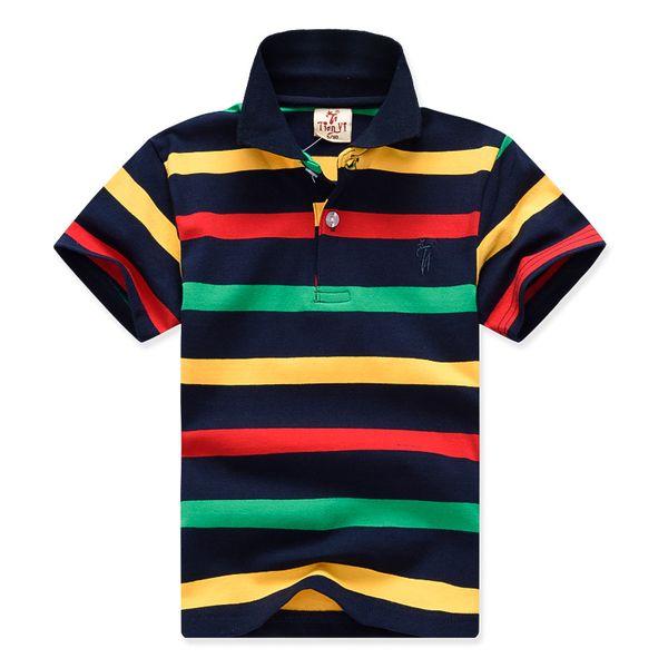 Baby Boys T shirts Boy Kid Stripe Top Tees Shorts Sleeve Children Clothing 2019 Summer Boys Cotton T shirts Clothes