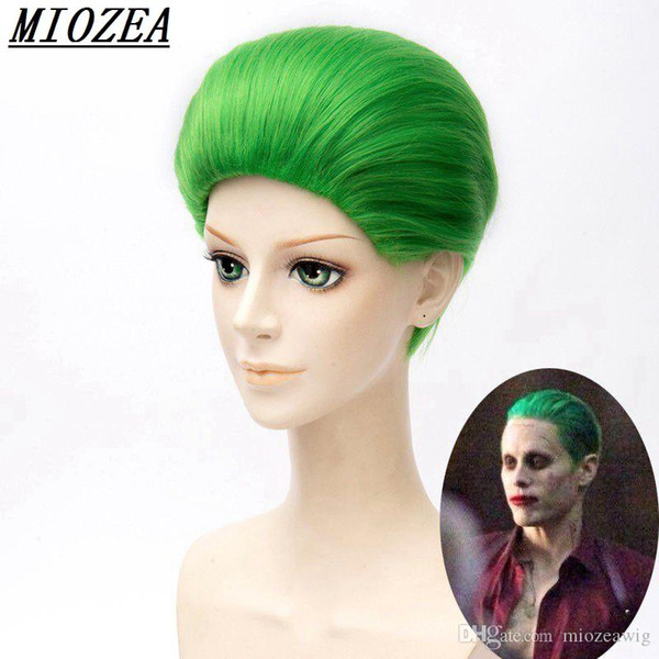 Jared Leto Batman Joker Green Wig 30cm Synthetic Hair Party Halloween Cosplay Costume Wig Heat Resistant Hair