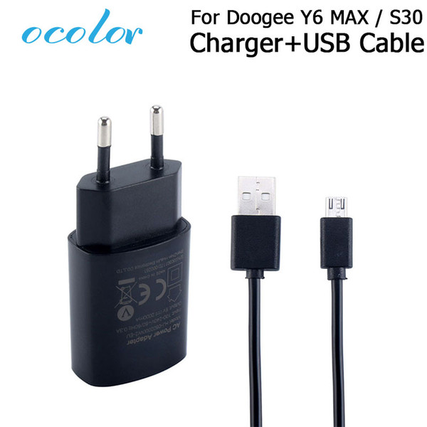 ocolor For Doogee S30 Y6 MAX Charger And USB Data Cable Plug Charging Head For Doogee S30 Y6 MAX Mobile Phone Accessories