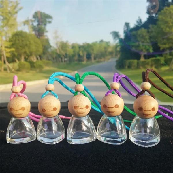 New15ML Doll Parfum bouteille de parfum ensoleillé bébé voiture Parfum Pendentif Huile essentielle Bouteilles Poupée Beauté Décoration de voiture outils Désodorisant 5908
