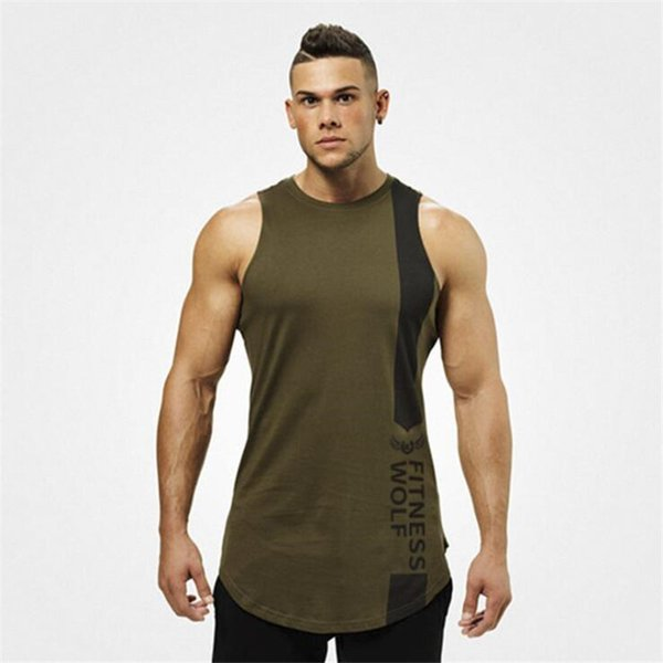 Men Summer Beach Sleeveless Long Vests Fashion Loose Breathable Men Shirts Personality Quick Dry Running Gym Clothing
