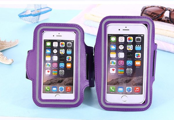 Esporte à prova d 'água ginásio correndo braçadeira suave bolsa case capa para iphone x s8 telefone inteligente 500 pçs / lote
