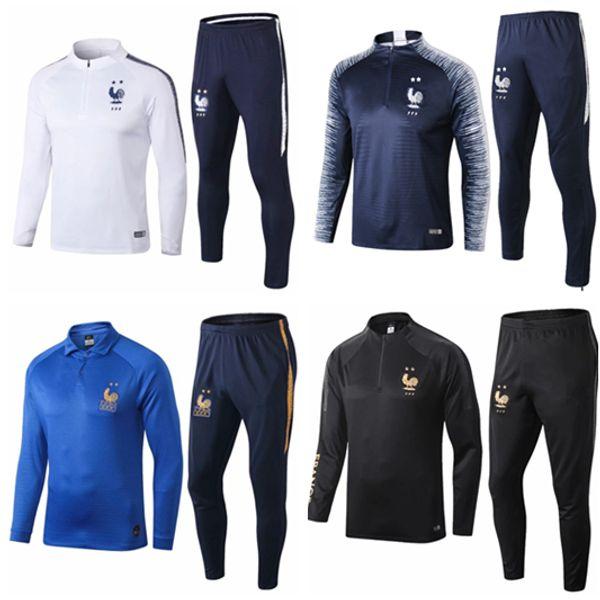19 20 mbappe treino de futebol 2019 frances treino terno KANTE survetement casaco de futebol man kit POGBA GREZMANN crianças treino de jogging