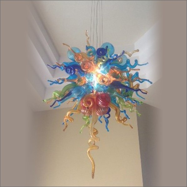 New Style Hot Sale Hand Blown Glass Chandeliers Lightings New House Decoration Chinese LED Murano Glass Chandelier Lamp