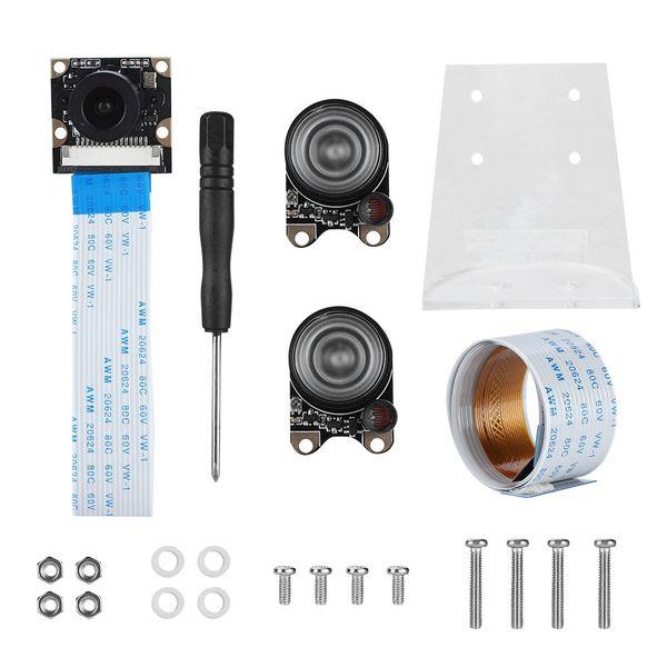 Gece Görüş Kamera Modülü Kamera Lens Kiti Ahududu Pi Için 3B + / 3B / 2B / B + / SIFIR 1.3 / SIFIR W