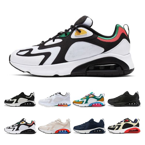 2019 fashion 200 running shoes for men women muiltycolor white black walking sports sneakers breathe mens trainers size 36-46