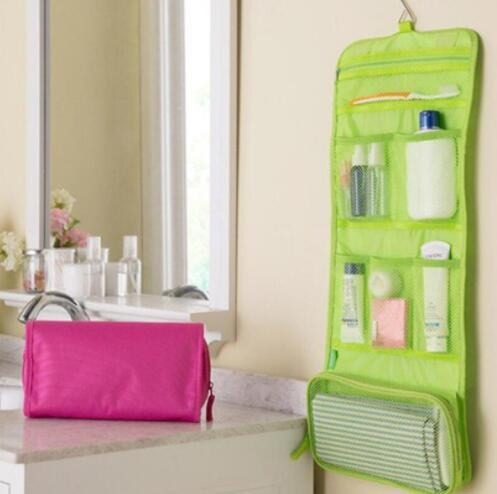 Roll Up Folding Travel Toiletry kit Underwear Storage Organizer Makeup Cosmetic Bag Wash Bag free shipping