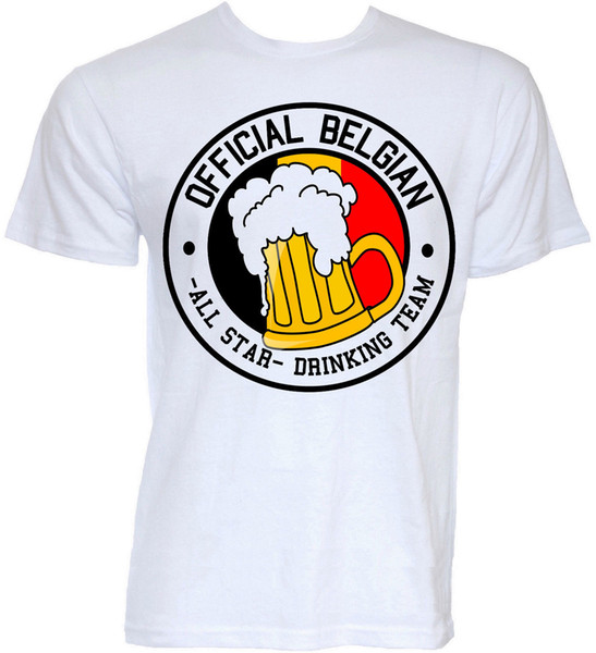 T-shirt Belgio Mens Funny Cool Novelty Belgian Joke Beer Rude Gifts T-shirt Funny 100% Cotton T Shirt