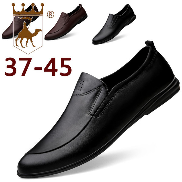 BACKCAMEL2019 Spring New Men's First Layer Cowhide England Leisure and Comfortable Soft Bottom Set Foot Handmade ShoesSIZE38-45