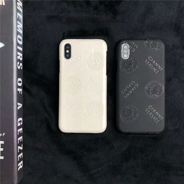 Premium Mobile Case Monogram Phone Back Cover For Iphone XS Max/XR X 8/7/6 Plus Dirt-resistant Cellphone Shell