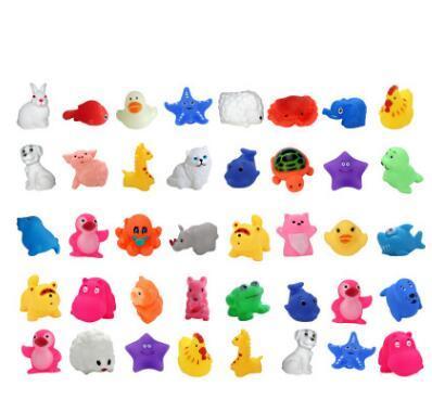 Karikatür hayvan banyo oyuncakları kawaii kurbağa balık ahtapot mini ses oyuncaklar çocuk emaye çocuk su oyuncak sıkıştı ...