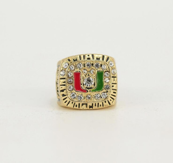 NCAA 1983/1987/1989/1991 University of Miami Hurricane League Championship Ring Birthday Gift Fan Memorial Collection