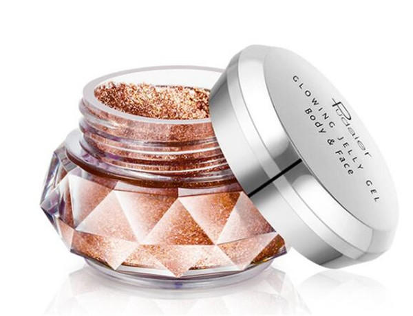 PUDAIER Jelly Gel Highlights Powder Eyeshadow makeup Glitter Pearly Beauty Glazed Shimmer 8 colors Face Body Eye shadow Cream Cosmetics