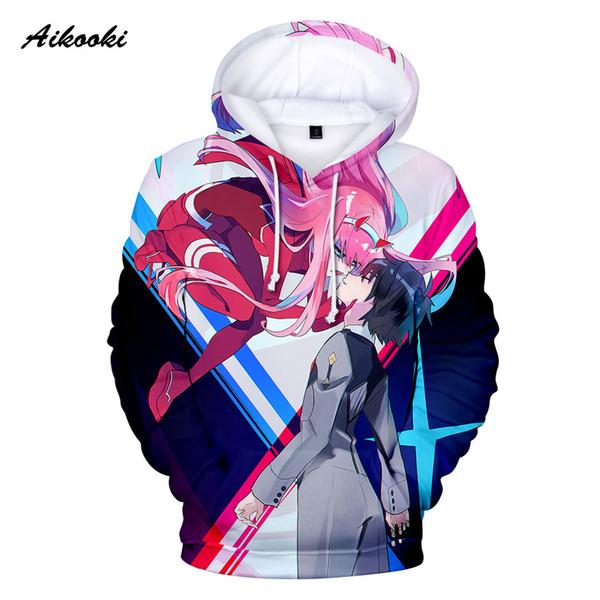 Querida No Franxx 3D Mulheres Homens Hoodies Casual 3D Impressão Hoodies Lazer Primavera Outono Moletons Anime Dos Desenhos Animados da Moda Tops