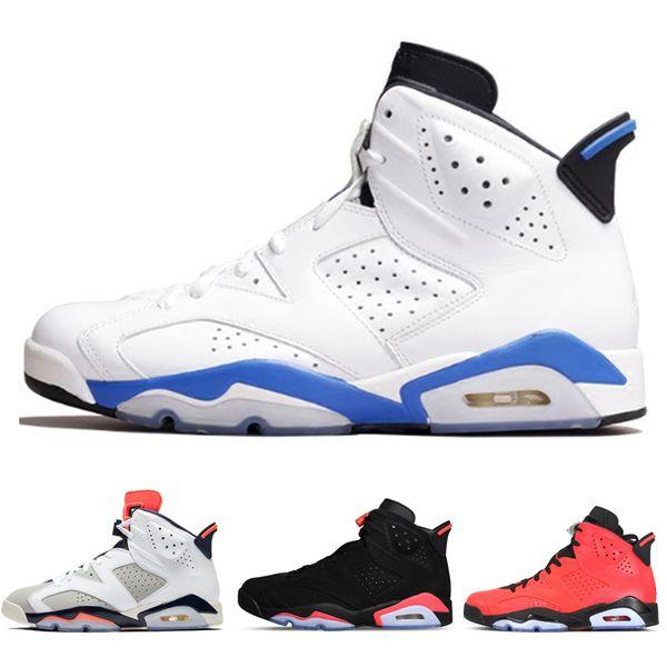 Designer 6 Infrared Men Basketball Shoes Sneaker Black Cat red UNC Oreo Sport Blue Marron Alternate mens Trainer Sports Jogging Shoe 41-47