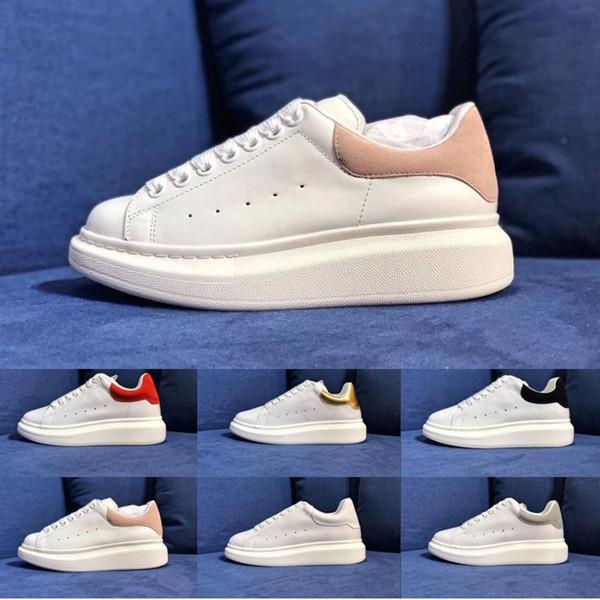 Top Luxus Designer Schuhe Damen Herren Trainer Weiß Leder Plateauschuhe Flache Schuhe Party Hochzeit Schuhe Wildleder Sport Sneakers