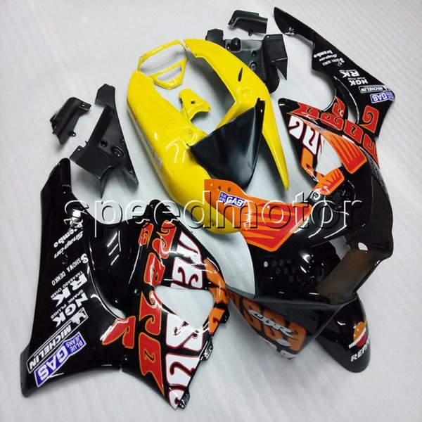 colors+Gifts orange yellow motorcycle Fairing hull for HONDA CBR900RR 98 99 CBR919RR 1998 1999 ABS motor panels