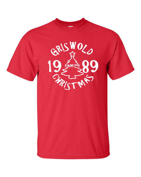 Griswold Family Christmas 1989 Vacation National Lampoon Movie Men´s Tshirt 574 T-Shirt Men Man's Designed Custom Short Sleeve Big Size Part
