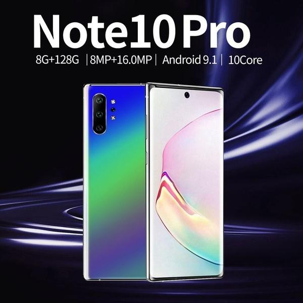 top popular 2019 Newest 4G Smartphone NOTE10+ Android 9.1 6.8 Waterdrop Smartphone MTK6595 Ten core 8GB RAM 128GB ROM Fingerprint and Face ID Smartphone 2019