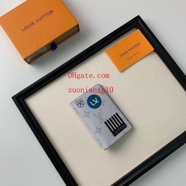 2019 marca de moda monedero blanco carteras plegables bolsos monederos mujer titular de la tarjeta pequeña bolsa de bolsillo regalo caliente para hombre ABD-13