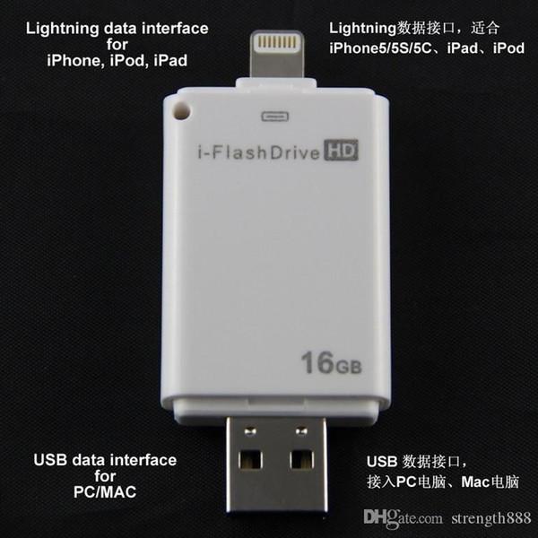 Gerçek Kapasite usb YENI Yüksek kaliteli USB flash sürücü 16 GB ~ 128 GB i-flash sürücü HD USB bellek