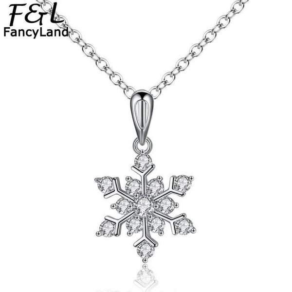 Necklace Women Fashion Jewelry Choker Snowflake Shape Rhinestone Pendant Lobster Claw Clasp Necklace Casual Party