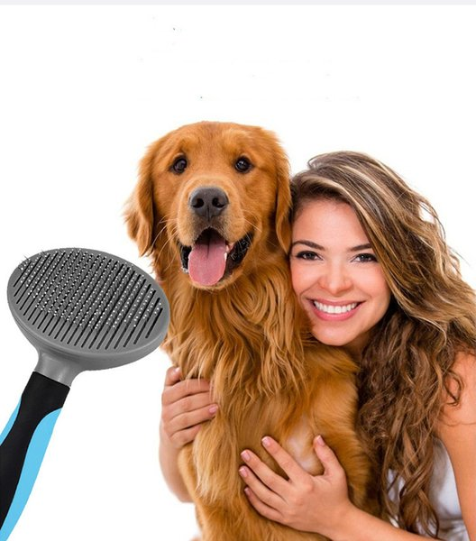 2019 New Pet Comb Automatic Hair Removal Dog Comb Pet Self-cleaning Comb Small Dog Cat Open Needle Self-cleaning com