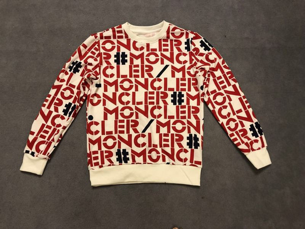19ss autumn and winter European Paris latest full body letter printing high quality luxury sweater men's designer hot sale top hangtag