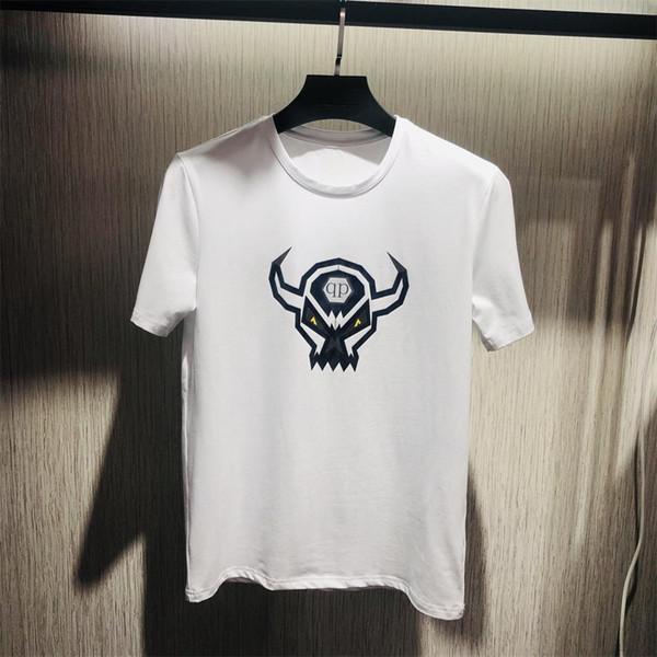 2019 Luxury Europe Paris новый стиль футболка мужская мода дизайнер футболка повседневная мужская одежда хлопок Tee.#401