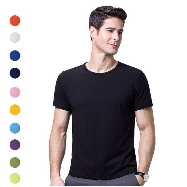 2019 Summer New men T shirt casual short sleeve o-neck Youth Fashion t-shirt men Round Neck Short Sleeve Bottoming T-Shirt drop ship