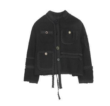 Небольшой аромат ветра пальто дизайн чувство ниши женщин потерять утолщение темперамент моды 2019 новая тенденция весна мода бесплатная доставка