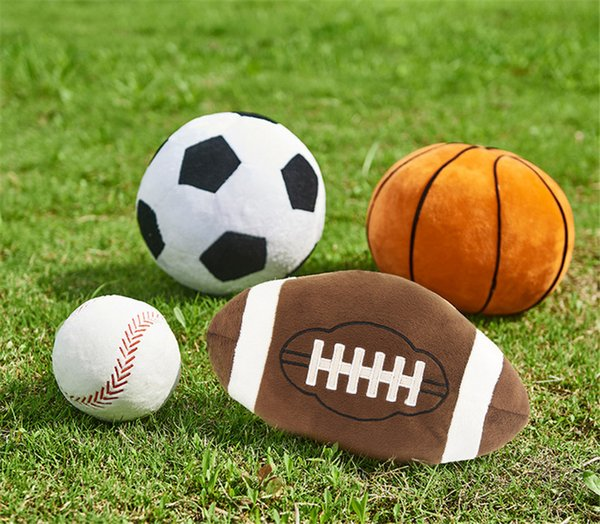 Imitation football basketball baseball Toy Kids Creative sphere toys 11 styles Cartoon spherical Plush Dolls