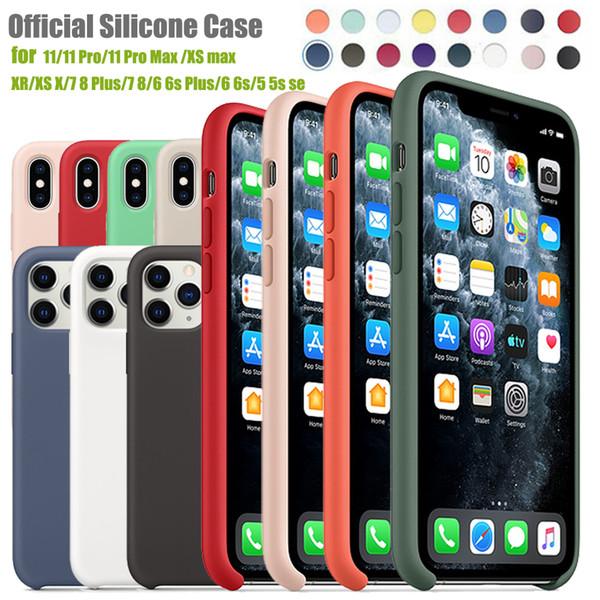 iPhone para o caso Original Silicone 11 Pro Max Xr Xs X Caso Oficial Silky Soft-Touch para o iPhone 7 8 Plus Com Retail Box