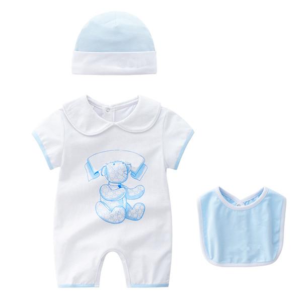 Mode Cartoon Gedruckt Baby Overall Baumwolle Atmungsaktive Weiche Säuglingsspielanzug Hohe Qualität Sommer Kurzarm Overall für Jungen Mädchen