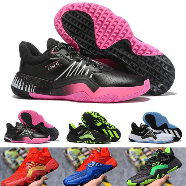 2020Mens Preto D.O.N. Branco Edição # 1 tênis de basquete, Homem-Aranha Donovan Mitchell 1s Venom Sneakers, Preto Verde DM45 Spida # 1 GCA Trainers