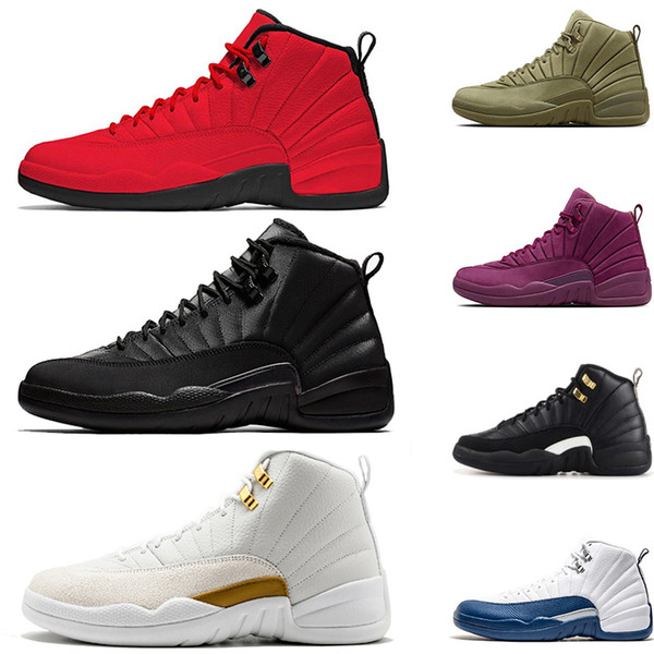 New WNTR basketball shoes for men 12s white Flu Game GYM RED BULLS cool Gym red master french blue mens sports designer shoes