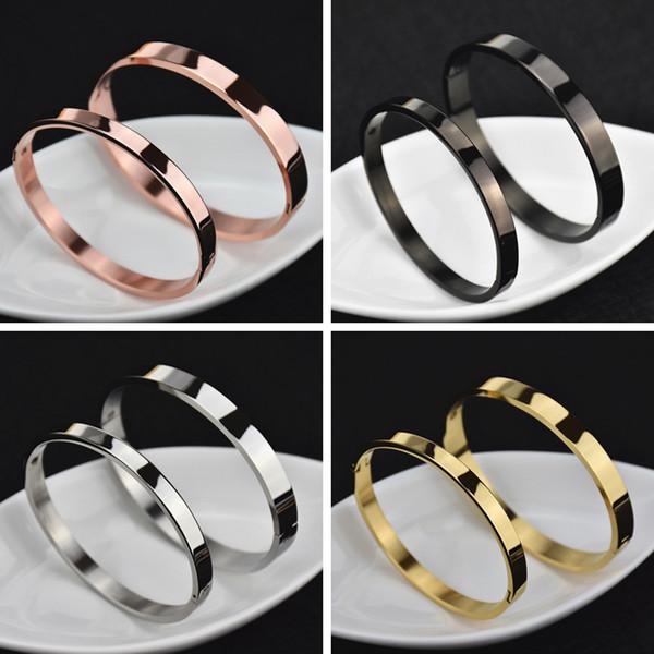 Titanium Steel Men women Bracelet silver rose gold Lover designer bracelet Bangles Women Men Luxury Bracelet Couple Jewelry