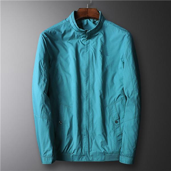 Marka Yüksek Kalite Uzun Kollu Yeni Tasarımcı Erkek Moda Gevşek Rüzgarlık ve Doğal Renkler ile Rahat Moda için Boyut M-3XL B100117Q