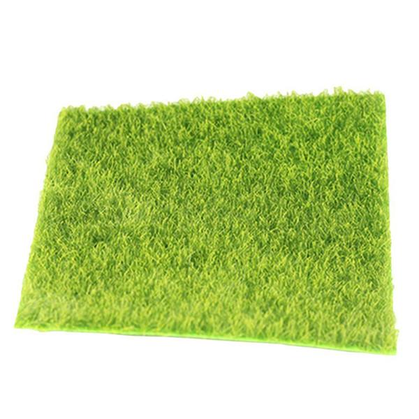 Gazon synthétique en plastique de gazon synthétique d'herbe de gazon synthétique d'herbe de jardin synthétique miniature pour l'outil miniature de jardin de poupée de jardin C19041302