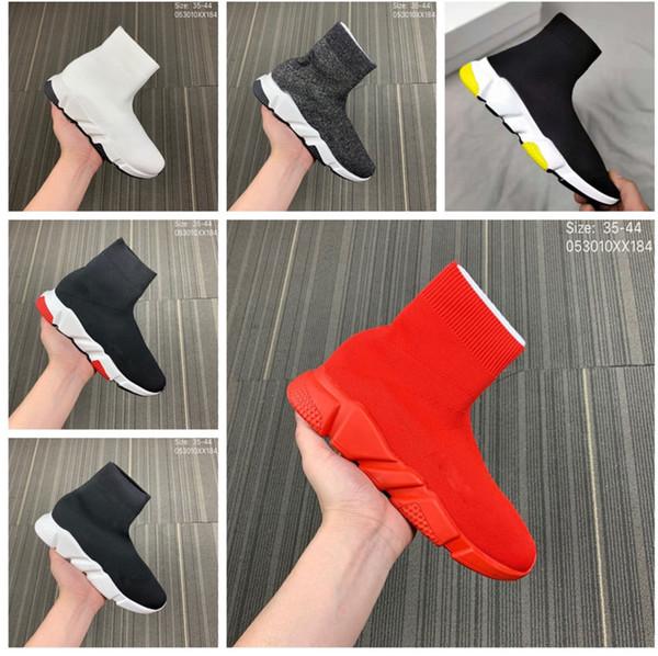Sapatos de meia de Luxo Sapato Casual Trainer Velocidade de Alta Qualidade Sneakers Speed Trainer Meia Corredores de Corrida preto Sapatos de L14A Sapatos de Luxo homens e mulheres